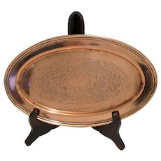 Oval Serving Tray   International Silver Company Engraved