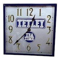 Advertising Tetley Tea Antique Wall Clock
