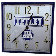 Advertising Wall Clock For Tetley Tea