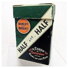 Half and  Half Tobacco Box Unopened Half & Half