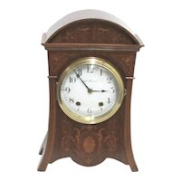 Antique Clock Inlaid Mantel Clock by Seth Thomas Fully Restored
