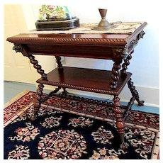 Antique Center Table by Merklen Bros. of New York