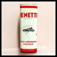 Nenette Car Dust Absorbing Polisher Automotive Advertising Tin