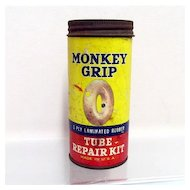 Car Tire Repair Kit Automotive Monkey Grip Tube Advertising Tin