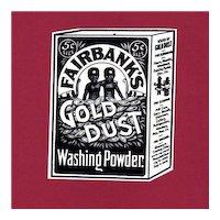 Advertising Gold Dust Washing Powder Hang Tag Sign
