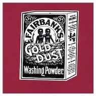Gold Dust  Washing Powder Hang Tag