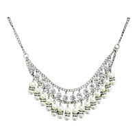 Choker Rhinestone and Pearl Necklace