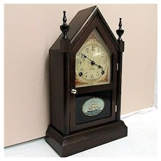 SOLD    See other clocks   ON SALE     Antique American Steeple Clock 100% Original And Completely Restored
