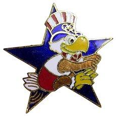 Sam the Eagle  Long Jump 1984 LA Olympic Pin