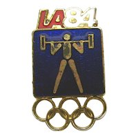 LA 84 Summer Olympic Weightlifting Pin
