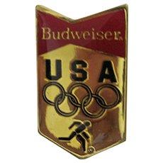 Olympic Pin 1984 Sponsor Budweiser