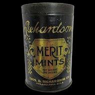 Candy Tin Richardson Merit  Mints