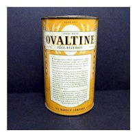 Ovaltine Food Beverage 14 oz Advertising Tin