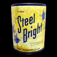 Steel Bright Sample Size Cleanser Advertising Tin