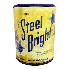 Steel Bright Sample Size Cleanser Advertising Tin Unopened