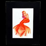 Petty Girl Print January 1938 by George Petty 50% Off