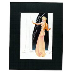 SOLD   Print April 1936 by George Petty from Esquire Magazine 50% Off