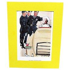 SOLD   3 Cartoons Prints By Gilbert Bundy Esquire Magazine 1936-37