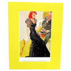 E. Simms Campbell Cartoon Prints Set of Three from Esquire Magazine 1936-37