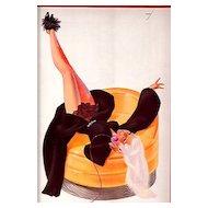 February 1936 George Petty Print 50% Off