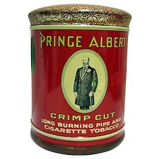 SOLD    See other  humidor tins we have  iAdvertising Prince Albert Domed Top Tobacco Humidor