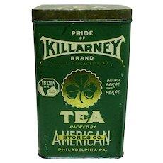 Killarney Brand Tea Advertising Tin American Stores Co.