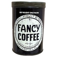 SOLD   See 35+ coffee tins available for purchase Fancy Coffee Advertising Tin