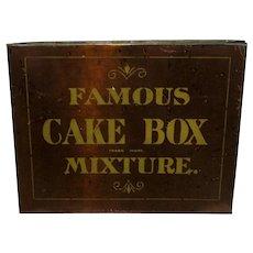 Famous Cake Box Mixture Advertising Tobacco Tin