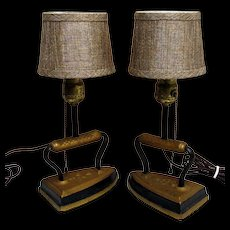 Lamp Sad Iron Table Lamps Matching Pair