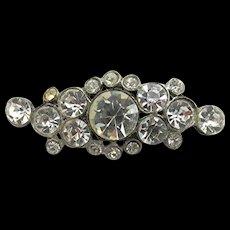 Pin or Brooch Rhinestone Bar Pin