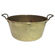 Antique Brass Kettle, Pail, Bucket or Pot