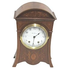 Antique Mantel Clock Seth Thomas Marquetry Mantle Clock 100% Original