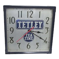 Original Tetley Tea Advertising Clock