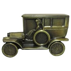 SOLD   See other Banks For SALE    Car Bank 1908 Cadillac Cast Metal