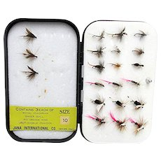 SOLD    See other Fly Wallets ON SALE    Wheatley Metal Fly Box with 25 Flies