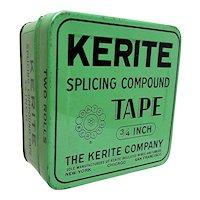 Kerite Splicing Tape Advertising Tin