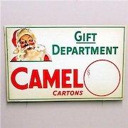 Original Camel Cigarettes Christmas Store Display Advertising Sign  MINT