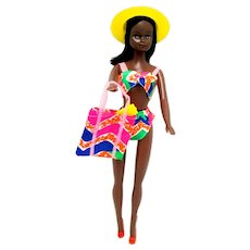 African American Black Barbie Style Doll---  Last One