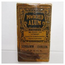 Unopened Alum Powder Advertising Pharmacy Item