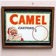 Camel Cigarettes Framed Store Display