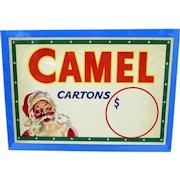 Advertising Sign Camel Cigarettes Original Christmas Store Display