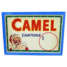 SOLD   Advertising Sign Camel Cigarettes Original Christmas Store Display