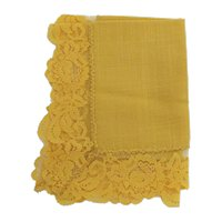 Hanky Golden Yellow Linen Hankie  or Handkerchief