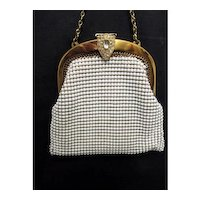 Hand Bag or Purse Whiting and Davis with  Compact