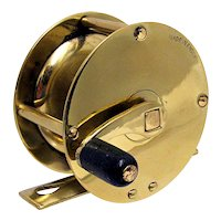 Fly Fishing Reel Solid Brass Antique