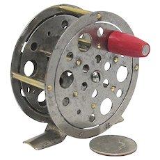 62e714b6a61 Drury House Antiques. $75 USD SALE. Fly Fishing Reel American Skeleton Reel
