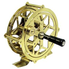 Solid Brass Fly Fishing Reel Raised Pillar Skeleton Reel