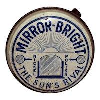 Automotive Advertising Tin For Mirror Bright Car Polish
