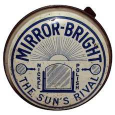 Automotive Advertising Tin For Mirror Bright Car Polish