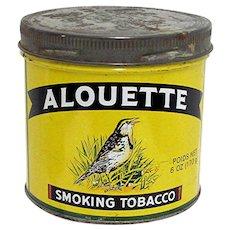 Advertising Tobacco Tin For Alouette Tobacco